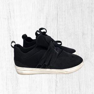 Steve Madden Lancer Sneaker Shoes Black Size 8M